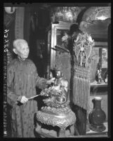 "F. See On, in his importing store in ""Old Chinatown"" in Los Angeles, Calif., 1946"