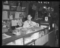 Old Chinatown merchant Dick W. Le, Los Angeles, Calif., 1946