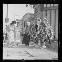 American Indian dancers at International Folk Dance Festival at Philharmonic in Los Angeles, Calif., 1963