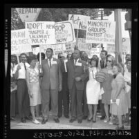 United Civil Rights Committee in march charging de facto school segregation in Los Angeles, Calif., 1963
