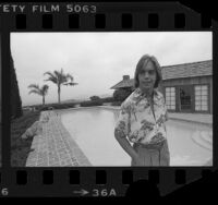 Shaun Cassidy poolside at his home in Los Angeles, Calif., 1978