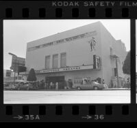 Huntington Hartford Theatre, exterior, in Los Angeles, Calif., 1978