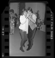 Actors Kristy McNichol and Jimmy Baio dancing at Sassy Magazine party in Los Angeles, Calif., 1978