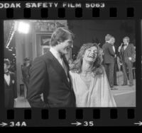 "Actors Christopher Reeve and Margot Kidder at movie premiere of ""Superman"" in Hollywood, Calif., 1978"