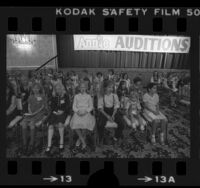"Group of girls at auditions for the motion picture ""Annie"" in Los Angeles, Calif., 1980"