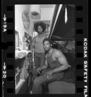 Leonard Edwards and Henry Simpson in their San Quentin prison cell, Calif., 1981