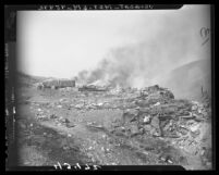 Smoke issuing from Kepner dump in East Los Angeles, 1947