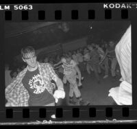 Slam dancing during Black Flag concert at Mi Casita in Torrance, Calif., 1983