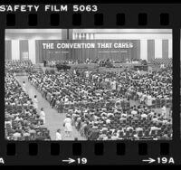 Audience watching Theodore J. Jemison speak during convention in Los Angeles, Calif., 1983
