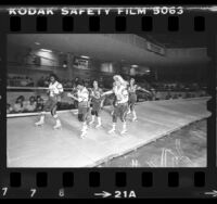 Los Angeles T-Birds roller derby game, 1983