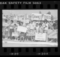 Korean Americans protesting the downing of Korean Air Lines Flight 007, 1983