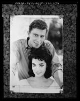 Actors Andrew Prine and Karyn Kupcinet, copy of portrait photograph, 1963