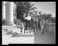 University of Redlands students square-dancing Redlands, Calif., 1948
