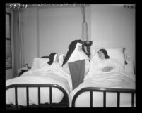 Nuns starved by Communists recuperating in Los Angeles hospital after being flown out of China, 1948