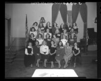 26 contestants for Queen of Tournament of Roses in Pasadena, Calif., 1948