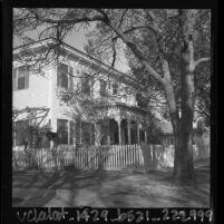Exterior view of the United States Civil War era Drum Barracks building in Wilmington, Calif., 1964