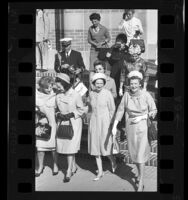 Bernice L. Brown, Eva Sámano de López Mateos, Lady Bird Johnson and Catherine Kerr at UCLA, 1964