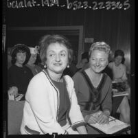 Author Betty Friedan and Mary E. Tingloff at UCLA Extension conference, 1964