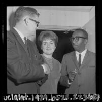 Author John Howard Griffin with Terry LaFrance and Dave Fulton Valley State College, Calif., 1964