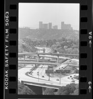 View of downtown Los Angeles and Glendale Freeway seen from Eagle Rock, Calif., 1984