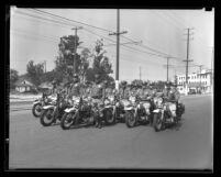 Los Angeles Police Dept.'s American Legion Motor Drill Team, circa 1932