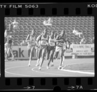 Earl Jones leading men's 800 meters during the 1984 U.S. Olympic trials in Los Angeles, Calif., 1984