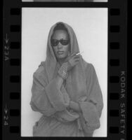 Singer and model Grace Jones, portrait, 1984