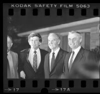 Gary Hart, Walter F. Mondale and George S. McGovern in Los Angeles, Calif., 1984