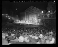 """Hollywood Bowl production of """"Up in Central Park"""", Calif., 1946"""