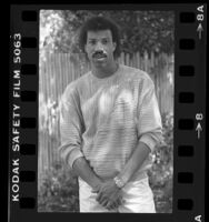 3/4 length portrait of singer Lionel Richie, 1984