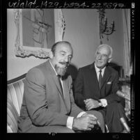 Mitch Miller with Walter N. Marks after being named national chairman of Brotherhood Week, Calif., 1964