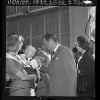 William E. Miller, Vice Presidential candidate campaigning in California, 1964