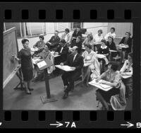 Adult education math class in South Pasadena, Calif., 1964