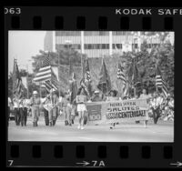 Color Guard starting the Nisei Week parade in Little Tokyo in Los Angeles, 1984