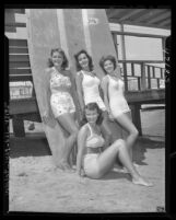 Contestants for queen of Newport Beach Tournament of Lights, Calif., 1947