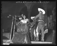 Helia Cassanova performing during Mexican Independence Day in Los Angeles City Hall, 1947
