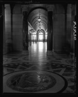 Know Your City No.13 View of rotunda and south corridor of Los Angeles City Hall