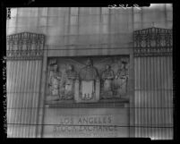 Know Your City No.41 Relief on façade of the Los Angeles Stock Exchange at 618 S Spring Street
