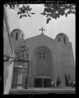 Know Your City No.120 Entrance and façade of the Saint Sophia Greek Orthodox Cathedral, Los Angeles, 1956