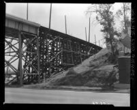 Know Your City No.124 Old Pacific Electric railroad trestle over Flecher Drive Los Angeles, Calif.