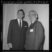 Ronald Reagan and William C. McLeod, president of the Inglewood Chamber of Commerce, Calif., 1965
