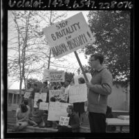 Members of Students Civil Rights Organization at Los Angeles Valley College holding a sympathy vigil on March 12, 1965