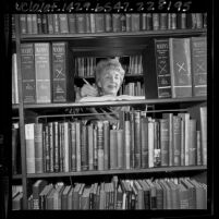 Los Angeles Public Library's Business and Economics librarian, Thelma Jackman, 1965