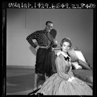 """Ricardo Montalban and Florence Henderson in theater production of """"The King and I"""" in Los Angeles, Calif., 1965"""
