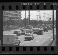 Automobile traffic at intersection in El Segundo, 1965