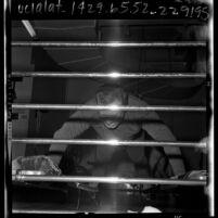 California legislator Jesse Unruh doing pushups at Elks Club in Sacramento, Calif., 1965