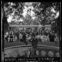 Patrons dining and dancing at Patroness Party preceding the opening of the 1965 Hollywood Bowl season