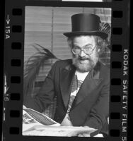 Westwood One radio disc jockey, Dr. Demento, (aka Barrett Hanson), 1984