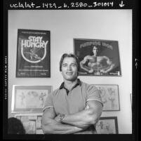 Arnold Schwarzenegger, half-length portrait, 1984