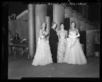 Evening gowns by Dorothy O'Hara, Orry Kelly, Al Teitelbaum and Howard Greer